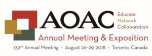 AOAC 2018 @ Sheraton Centre Toronto Hotel | Toronto | Ontario | Canada