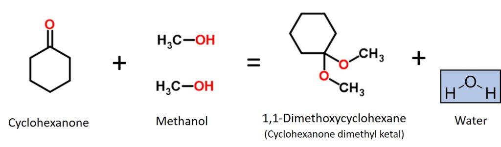 Figure 1-Cyclohexanone react with methanol