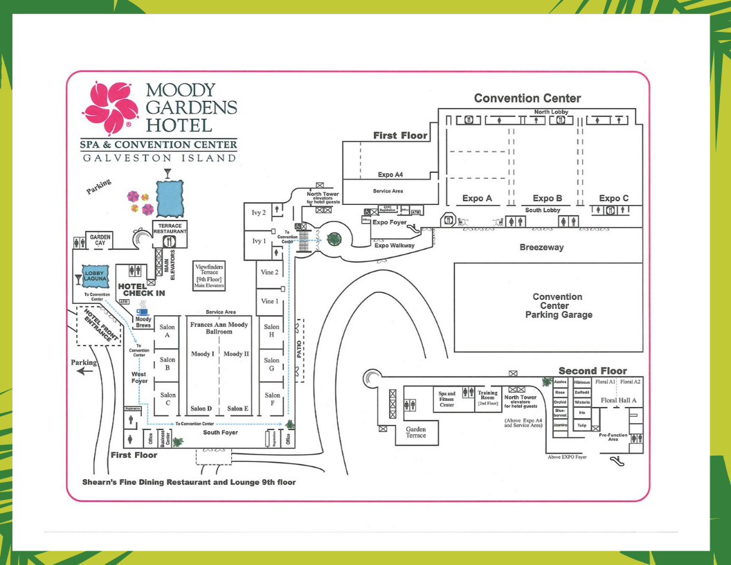 moody gardens map