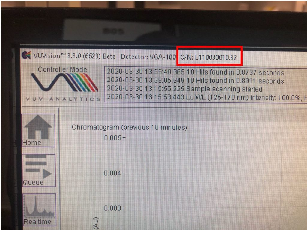 serial number vuvision